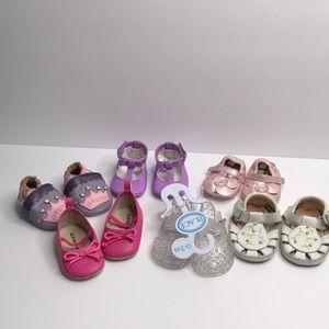 Baby girl shoe lot 4 new Gymboree,Wendy bellissimo
